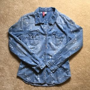 Constellation chambray shirt